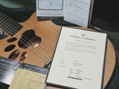 K.yairi 鑑定書 肉球ギター
