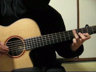 譜面F7小節目の薬指の6〜4弦セーハー