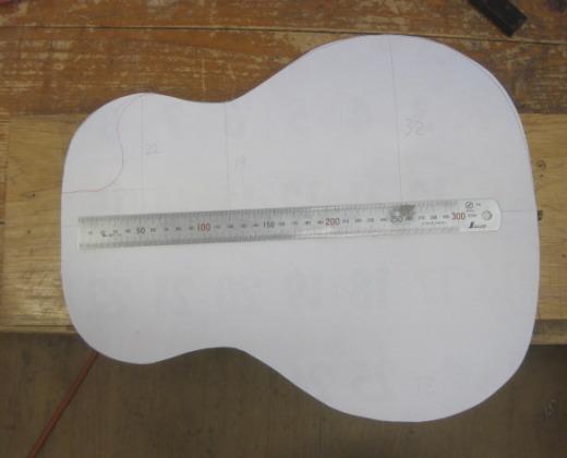 ギター型紙